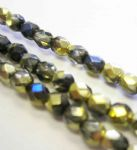 Czech Fire Polished Beads - 4mm - Crystal California Blue (50)